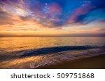 phuket mai khao beach sunset | Shutterstock . vector #509751868