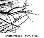 black silhouette of spring...   Shutterstock .eps vector #50975701