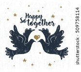 hand drawn party label with... | Shutterstock .eps vector #509758114