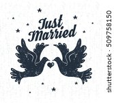 hand drawn party label with... | Shutterstock .eps vector #509758150