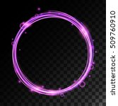 Vector Magic Circle With Light...