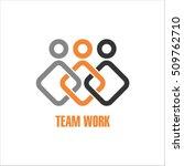 team work logo design template | Shutterstock .eps vector #509762710