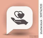 pictograph of heart in hand | Shutterstock .eps vector #509762920