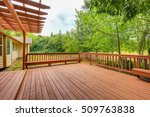 exterior of horse ranch with...
