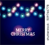 installation of christmas... | Shutterstock .eps vector #509766778