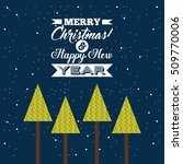 happy merry christmas card... | Shutterstock .eps vector #509770006