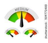 low  medium and high gauges.... | Shutterstock .eps vector #509772400