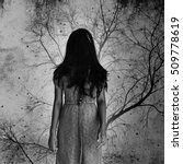 Ghost Woman With Dead Tree In...