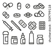 set of pills  vector variable... | Shutterstock .eps vector #509799118