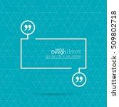 vector speech bubble with...   Shutterstock .eps vector #509802718
