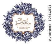 vintage delicate invitation... | Shutterstock .eps vector #509813536
