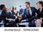 business people shaking hands ... | Shutterstock . vector #509816560