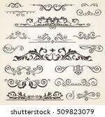 fine line set of design... | Shutterstock .eps vector #509823079