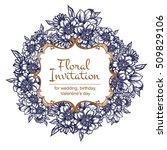 romantic invitation. wedding ... | Shutterstock .eps vector #509829106