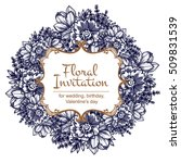 invitation with floral... | Shutterstock .eps vector #509831539