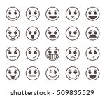 smiley face flat line vector... | Shutterstock .eps vector #509835529