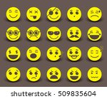 yellow smileys faces icon and...   Shutterstock .eps vector #509835604