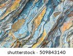 rock layers   a colorful... | Shutterstock . vector #509843140