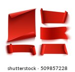 set of five red  realistic ... | Shutterstock .eps vector #509857228
