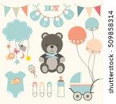 baby shower element sets | Shutterstock .eps vector #509858314