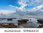 coastline with rocks and stones.... | Shutterstock . vector #509866414