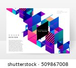 geometric background template... | Shutterstock .eps vector #509867008