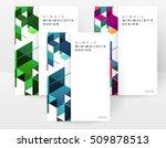 geometric background template...   Shutterstock .eps vector #509878513