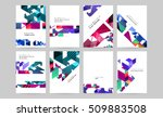 geometric background template... | Shutterstock .eps vector #509883508
