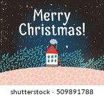 greeting card with little house | Shutterstock .eps vector #509891788