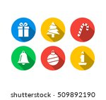flat icon set of christmas   Shutterstock .eps vector #509892190
