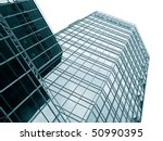 Modern office building glass facade toned - stock photo