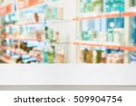 pharmacy counter with the... | Shutterstock . vector #509904754