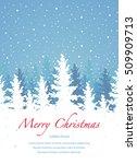 vector background  merry... | Shutterstock .eps vector #509909713