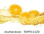 fresh orange background with...   Shutterstock . vector #509911120