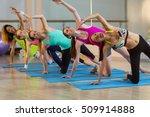 group of women performing... | Shutterstock . vector #509914888