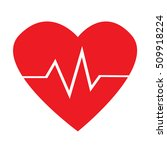 heart cardio pulse icon... | Shutterstock .eps vector #509918224