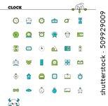 clock line icon wt. vector high ... | Shutterstock .eps vector #509929009