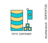 toy's container line icon.... | Shutterstock .eps vector #509929720