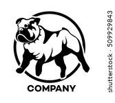 dog english bulldog logo | Shutterstock .eps vector #509929843