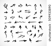 hand drawn arrows  vector set | Shutterstock .eps vector #509933890