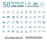 vector graphic set. silhouette  ... | Shutterstock .eps vector #509934304