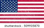 grunge usa flag.vector american ... | Shutterstock .eps vector #509935870