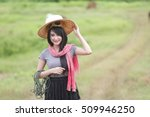 she is a girl cowboys. | Shutterstock . vector #509946250
