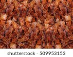 grilled bacon texture. | Shutterstock . vector #509953153