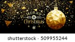 christmas and new year design... | Shutterstock .eps vector #509955244