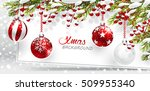 christmas background with red... | Shutterstock .eps vector #509955340