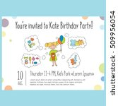 vector template for birthday... | Shutterstock .eps vector #509956054