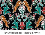 seamless indian pattern. set of ... | Shutterstock .eps vector #509957944