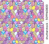 fabric pattern with simple...   Shutterstock .eps vector #509960800