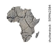 silhouette of africa. map is... | Shutterstock . vector #509962384